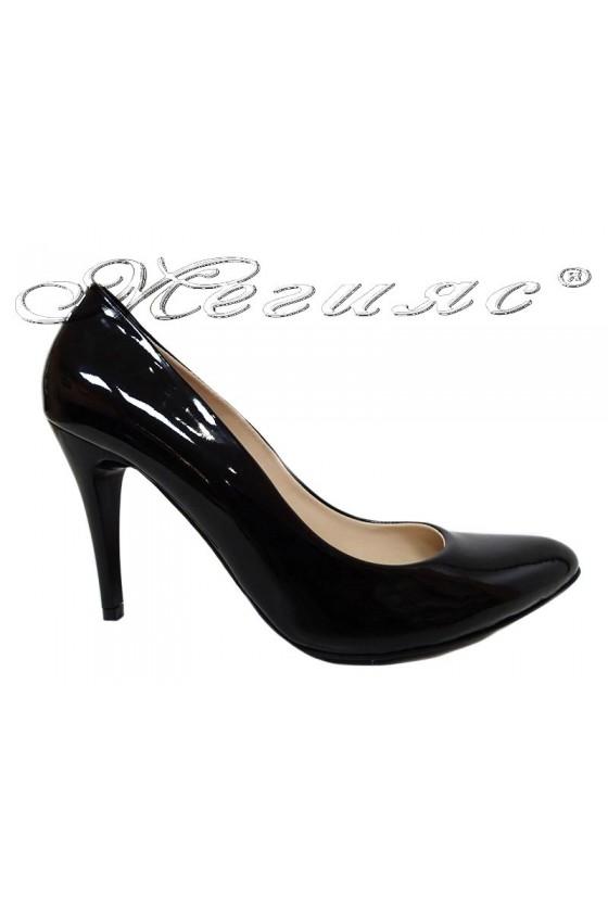 Lady elegant shoes XXL 1520 black patent