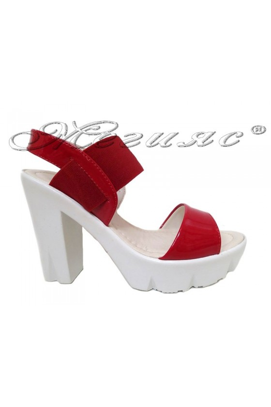 Lady sandals 065 red