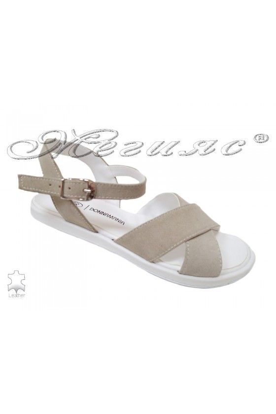 Lady sandals 043 beige leather