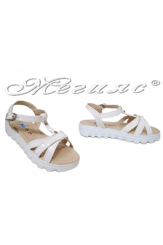 children's sandals white pu