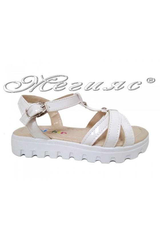 children's sandals white pu