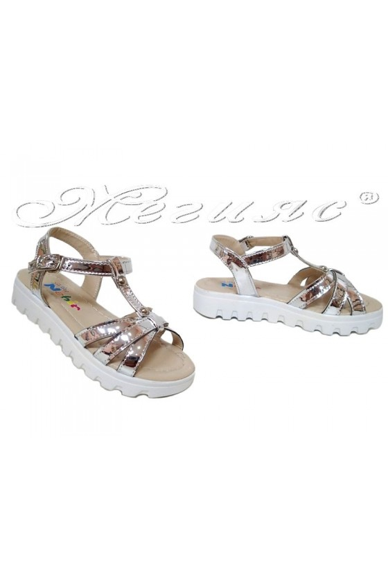 children's sandals silver pu