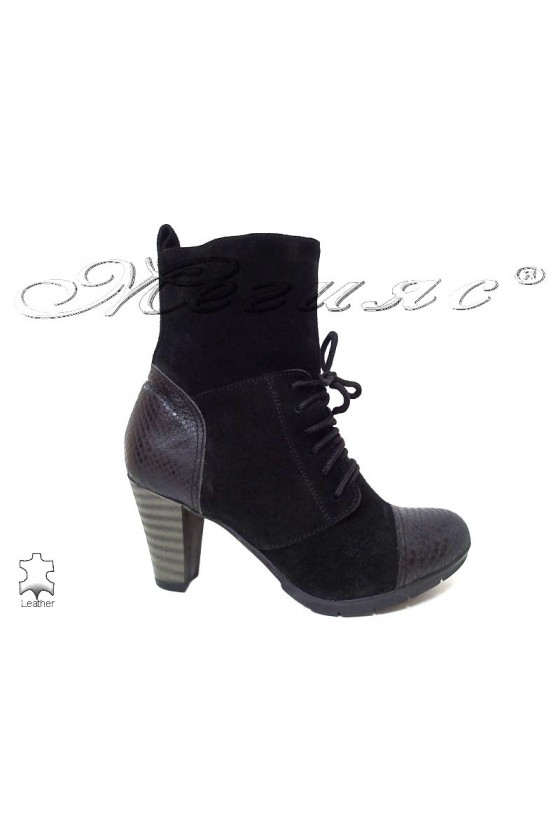Lady boots 1413  black leather