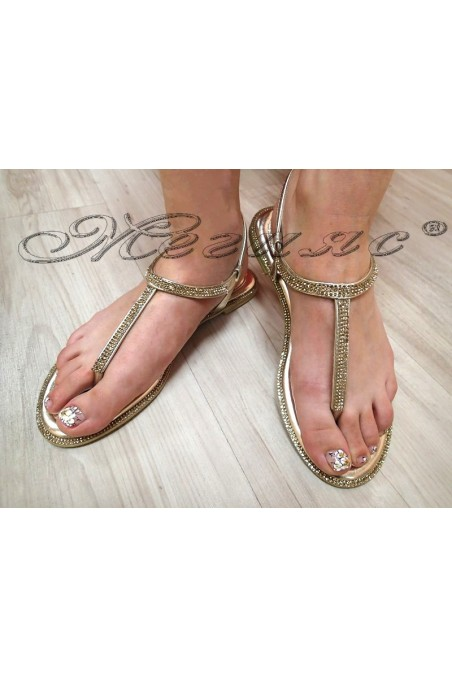 Women sandals LINDA 20S16-352 gold pu