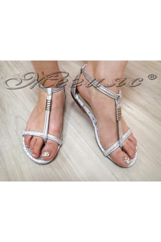 Lady sandals  S-114 silver pu
