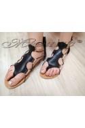 Lady sandals JESS 2016-257 black pu