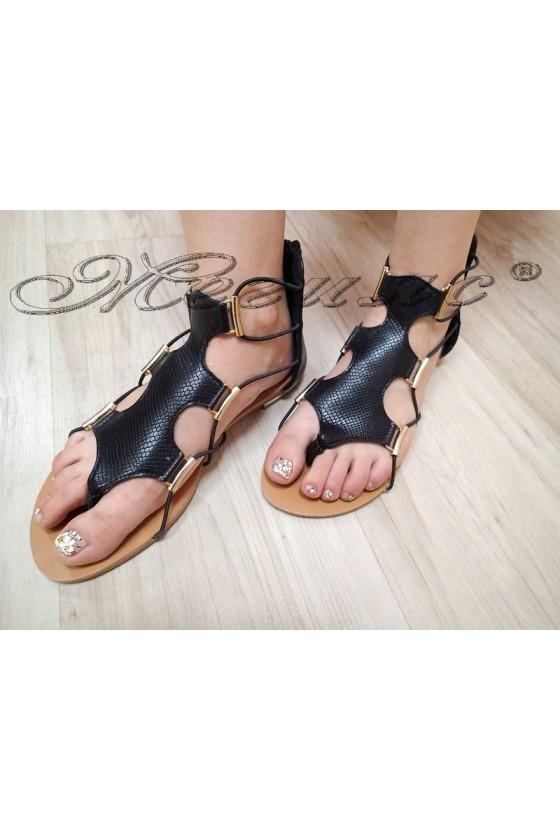 Дамски сандали JESS 20S16-257 черни еко кожа