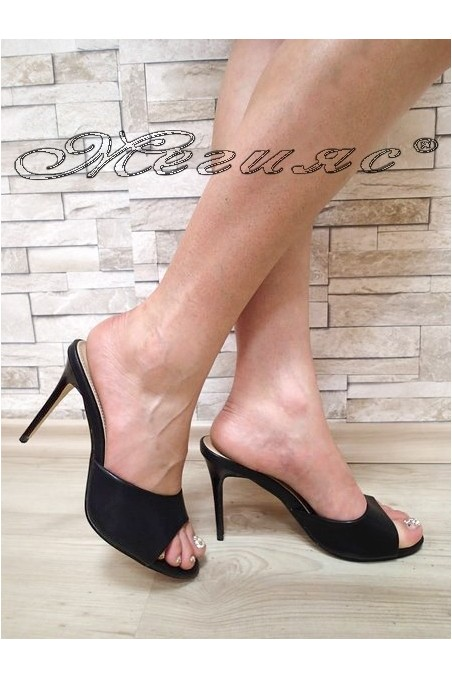 Lady sandals WENDY 20S16-59 black pu with high heel