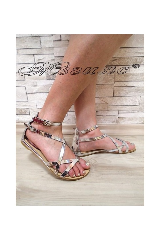 Lady sandals 20S16-256 silver pu