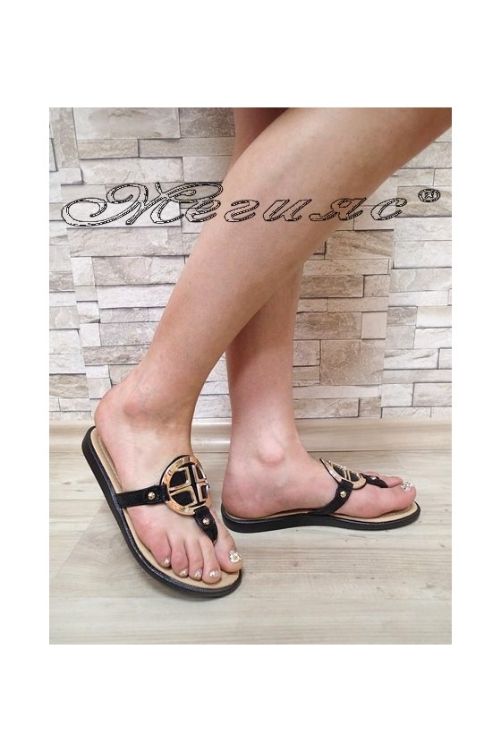 Lady sandals S-111 black pu