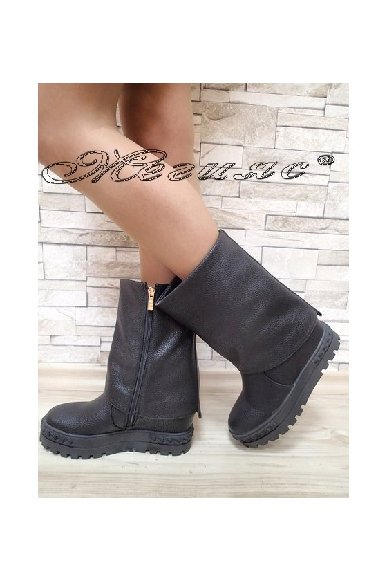 Lady boots Christine 2017-228 black pu