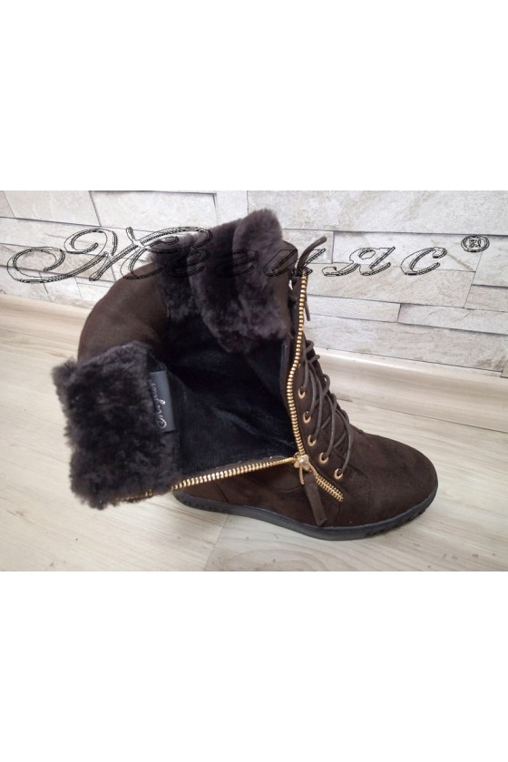 Lady boots  Christine 2017-223 brown pu
