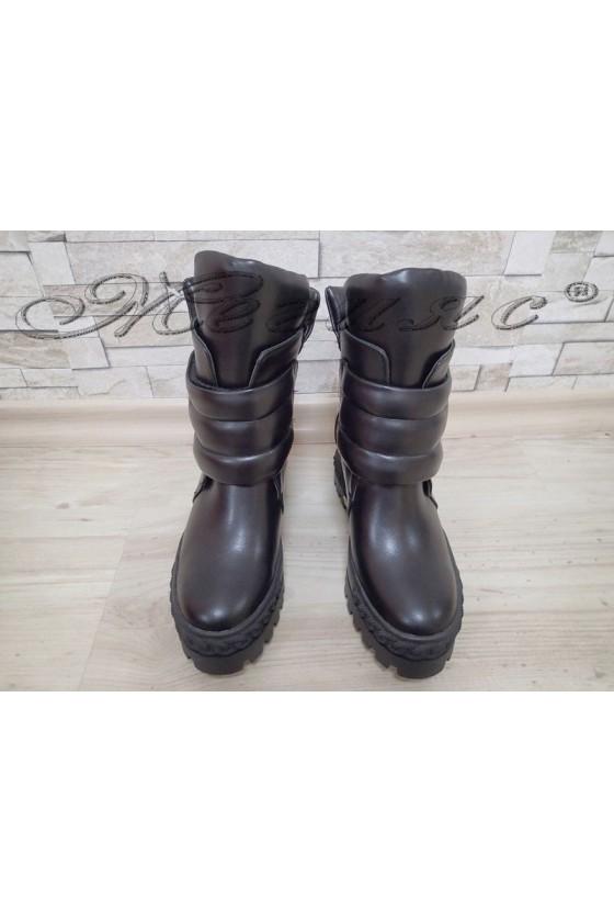 Women boots Christine 2017-229 black pu