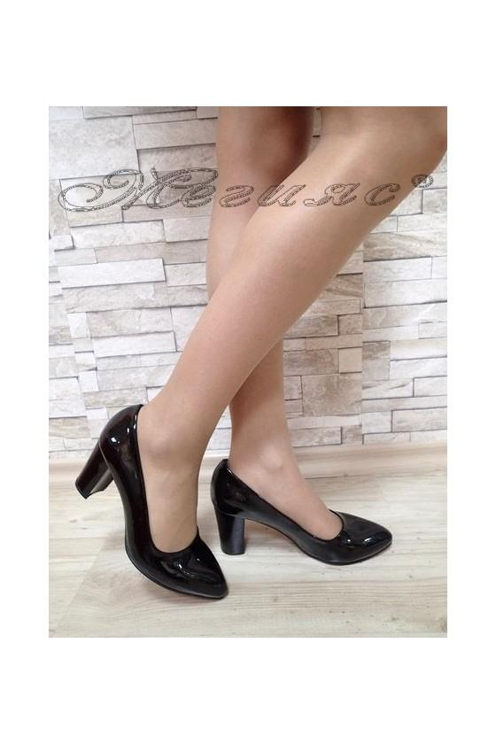 Lady elegant shoes 701 black pattent