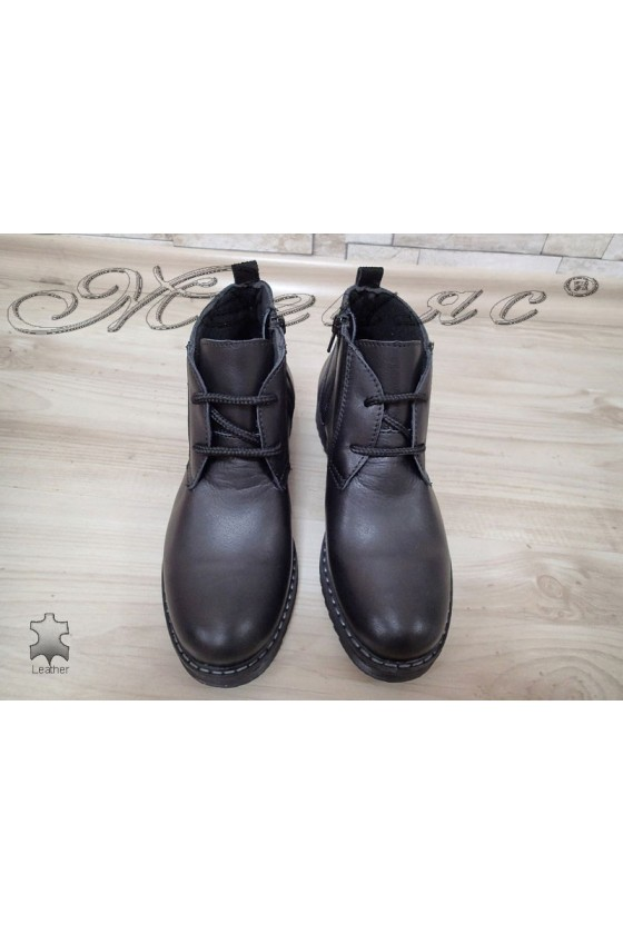 Women boots  3218 black leather