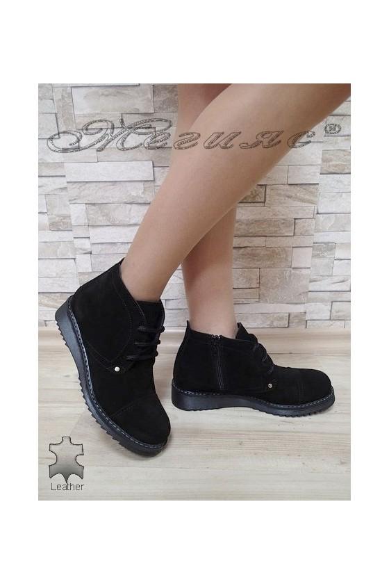 Women boots 3220 black suede
