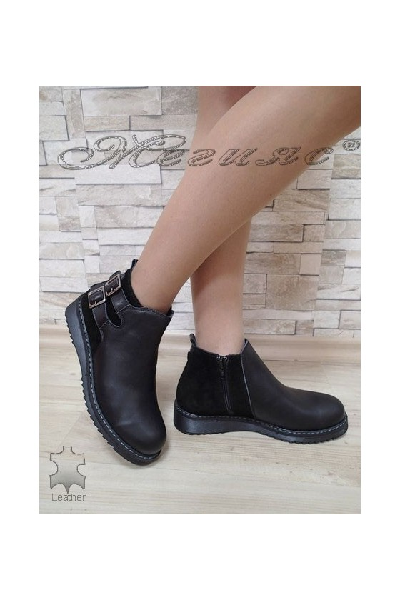 Women boots  3222 black leather