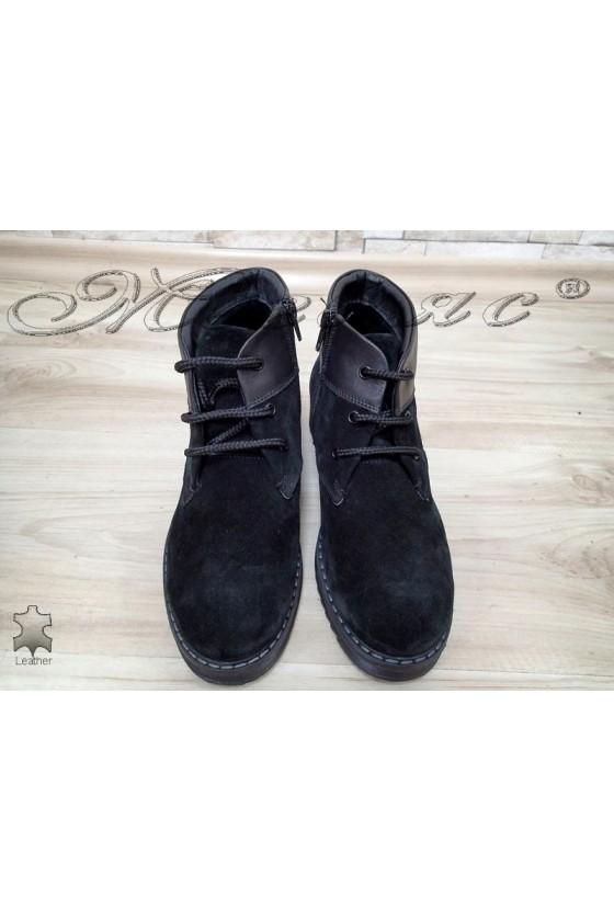 Women boots 2018 black suede