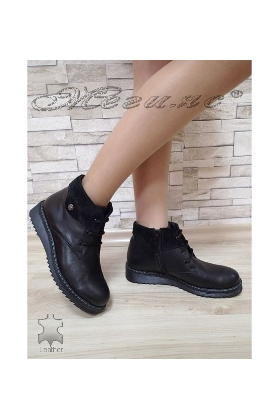 Women boots 2018 black leather