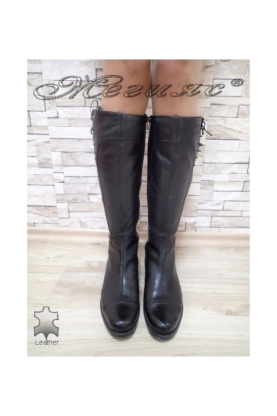 Lady boots 5413 black leather