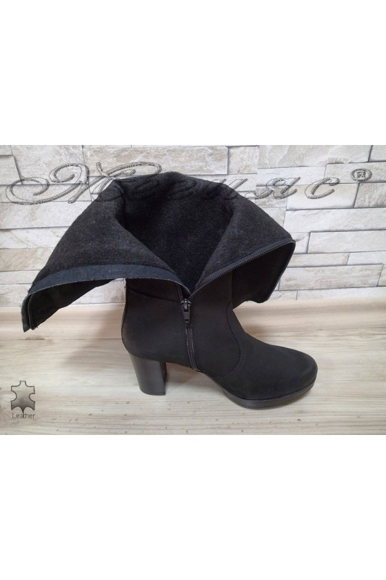 Lady boots 1440102 black  leather  suede