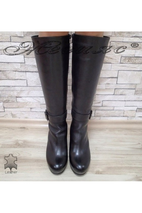 Lady boots 14408  black leather
