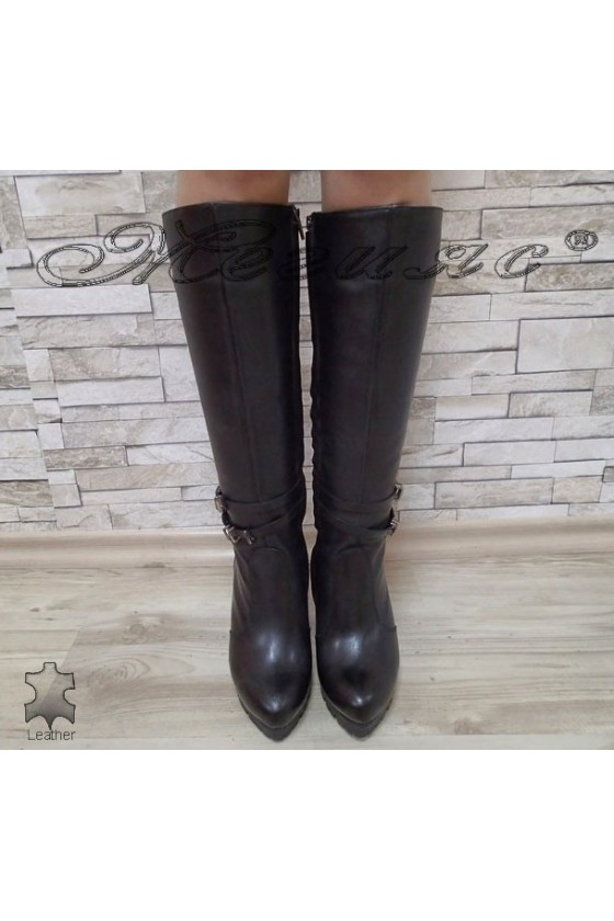 Lady boots 16401 black  leather