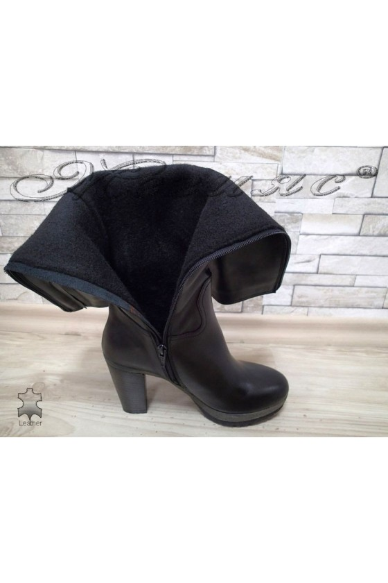Lady boots 14407 black  leather