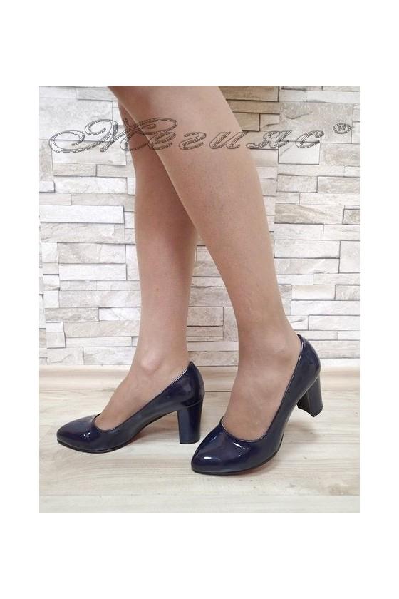 Lady elegant shoes 701 blue pattent