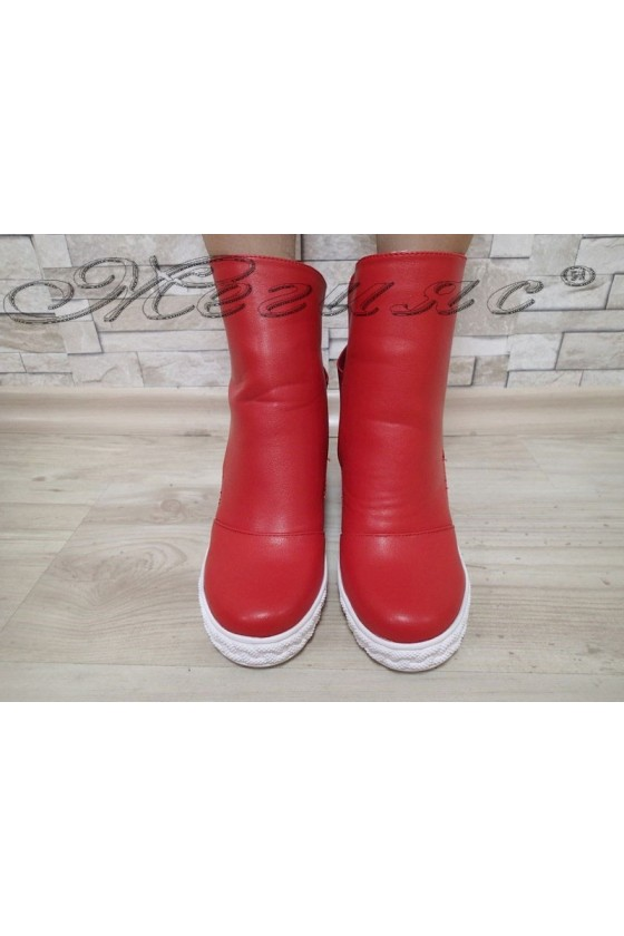 Lady boots  Cassie 2017-44 red pu