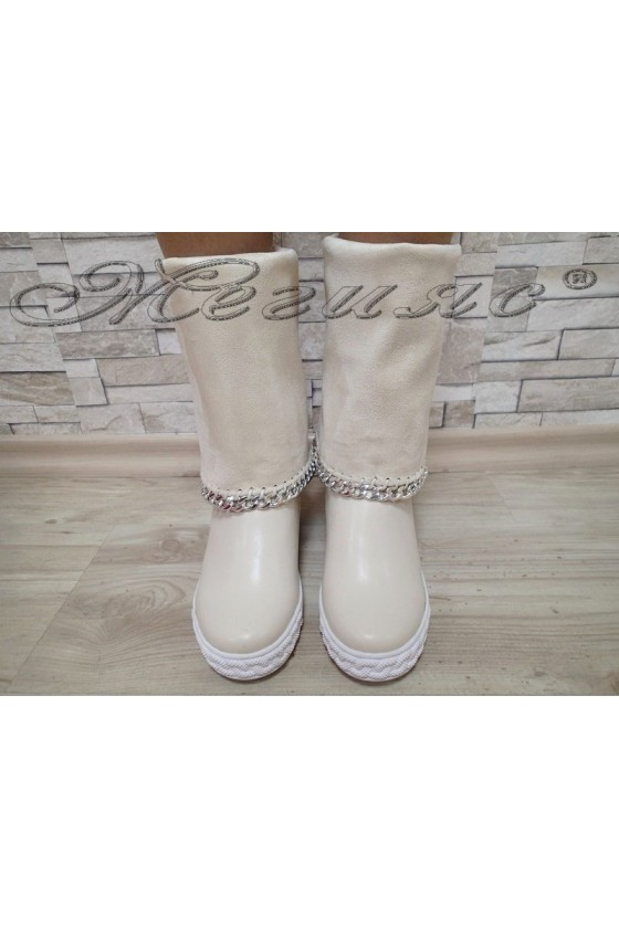 Lady boots Cassie 20W17-43 beige pu