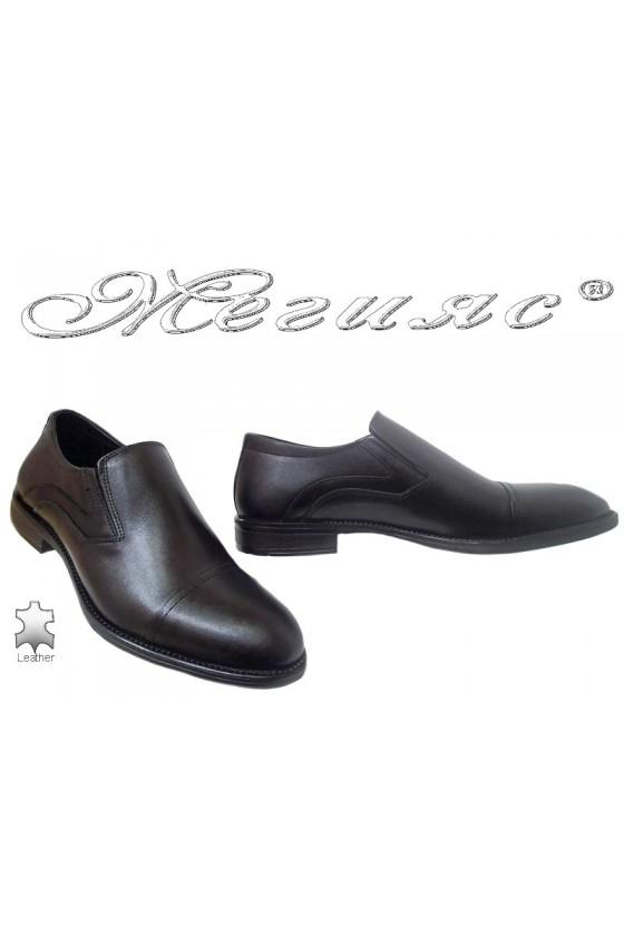Men elegant shoes FANTAZIA 17402 black leather