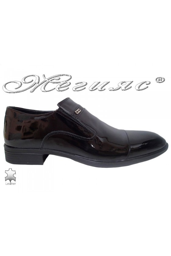 Men elegant shoes FANTAZIA 17504 black leather