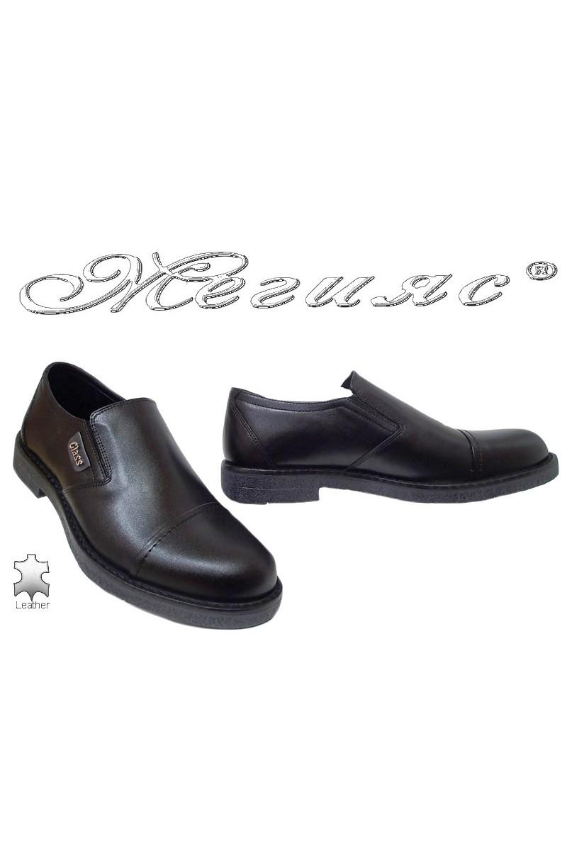 Men elegant shoes FANTAZIA 17601 black leather