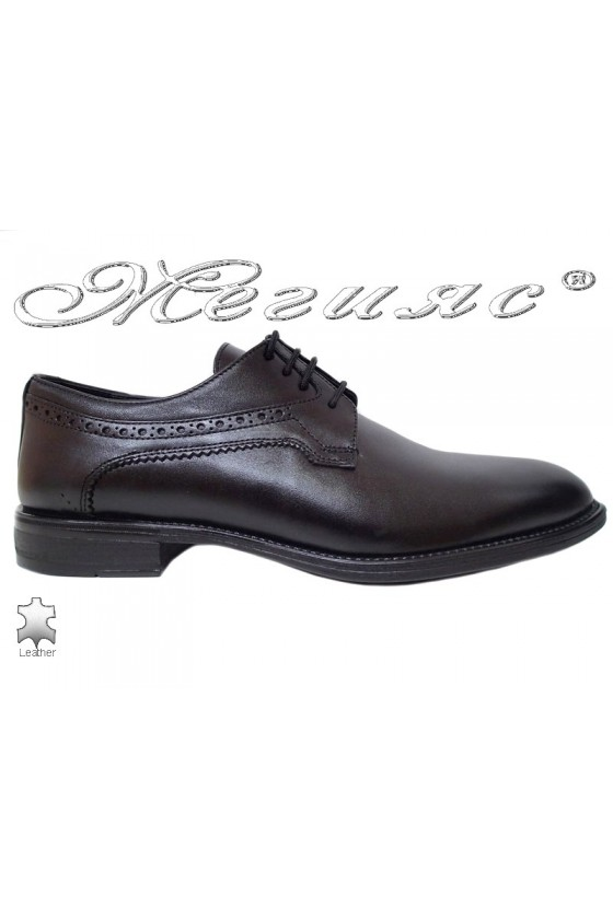 Men elegant shoes FANTAZIA 17400 black leather