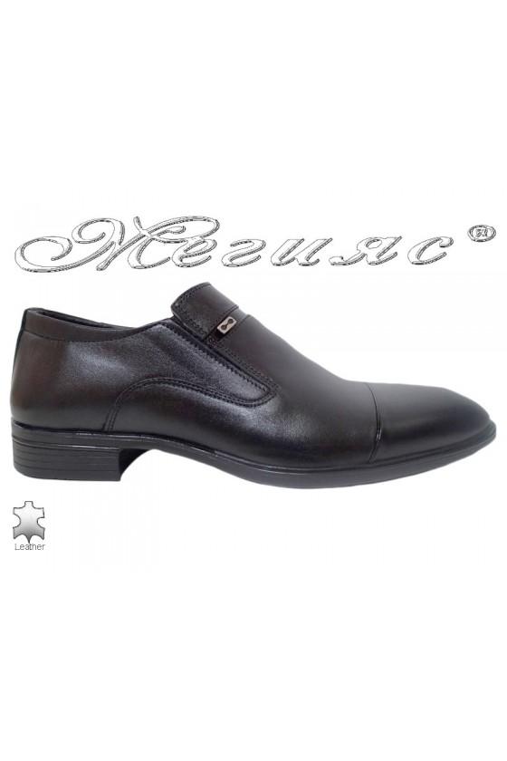 Мъжки обувки Фантазия 17504 черни от естествена кожа
