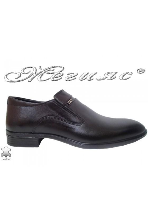 Мъжки обувки черни от естествена кожа Фантазия 17505