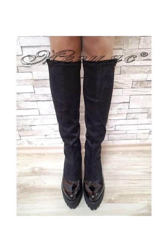 Lady boots Carol 20W17-185 black suede