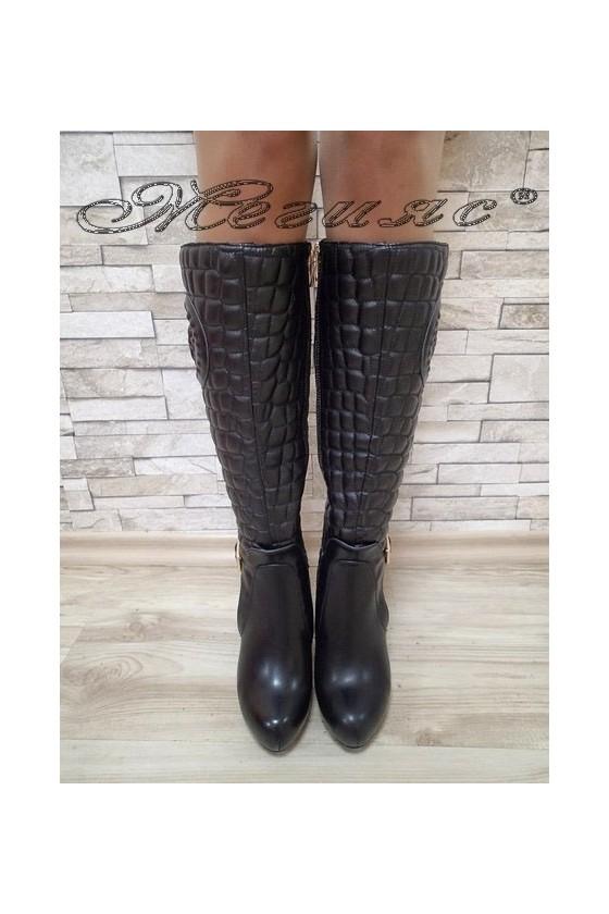 Women boots  Carol 20W17-118 black pu