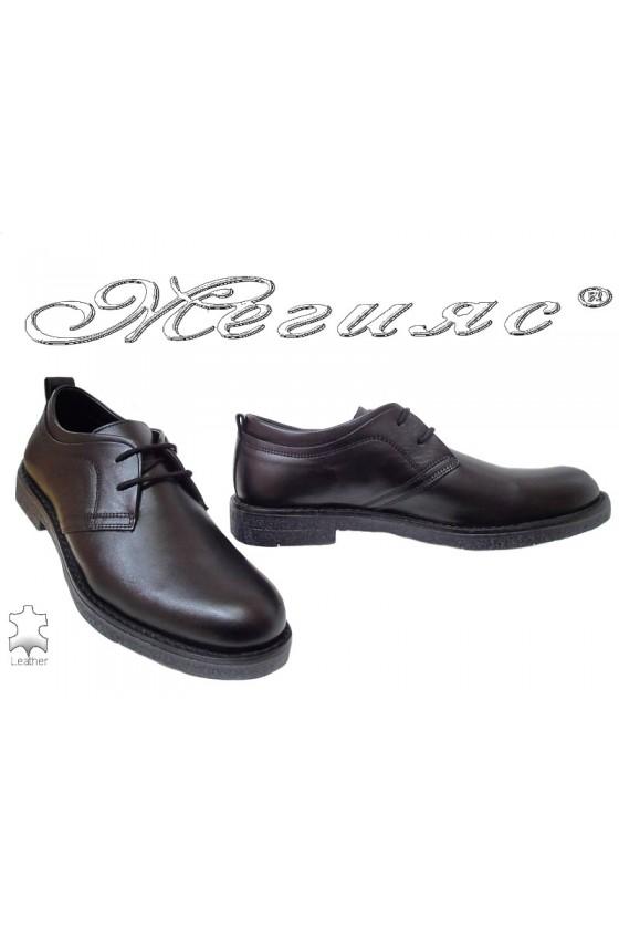 Мъжки обувки Фантазия 17603 черни от естествена кожа