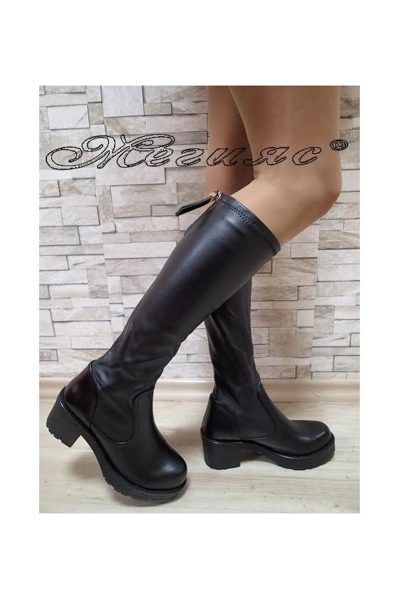 Lady boots Carol 2017-190 black pu
