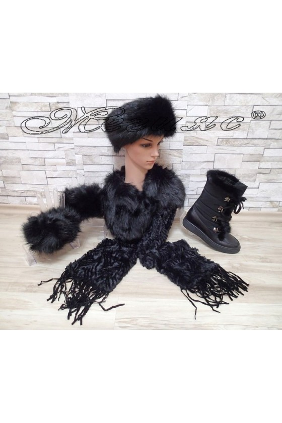 Lady boots 2017-164 black with cap