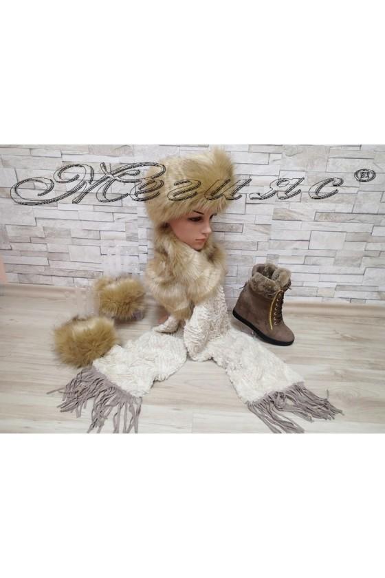 Lady boots 2017-223 beige cap