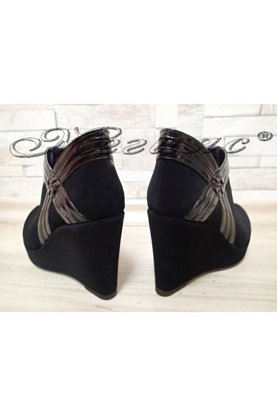 Lady shoes 492 black platform