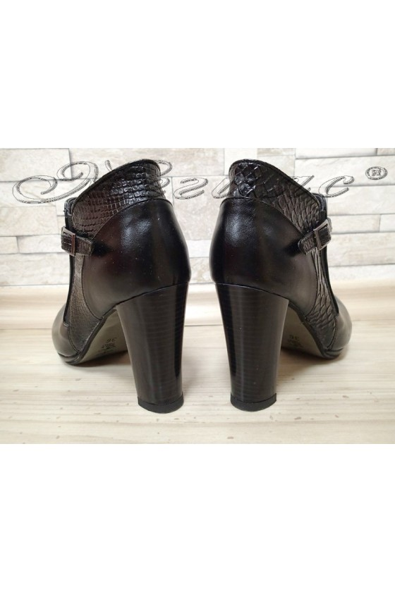 Lady shoes  732-2 black pu with high heel