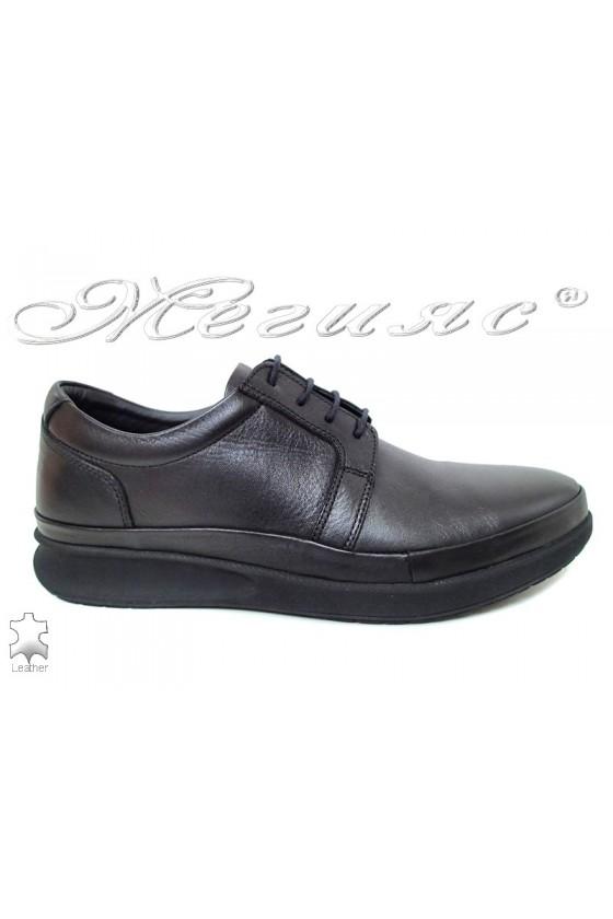Мъжки обувки Фантазия 041 черни от естествена кожа