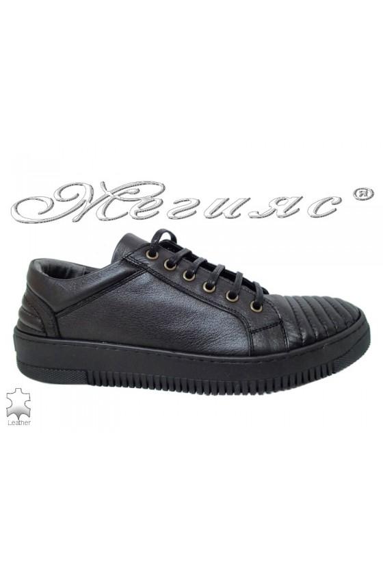 Men's shoes 105 black leather