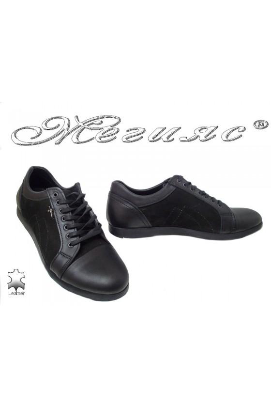 Мъжки обувки Тренд 65 черни естествена кожа