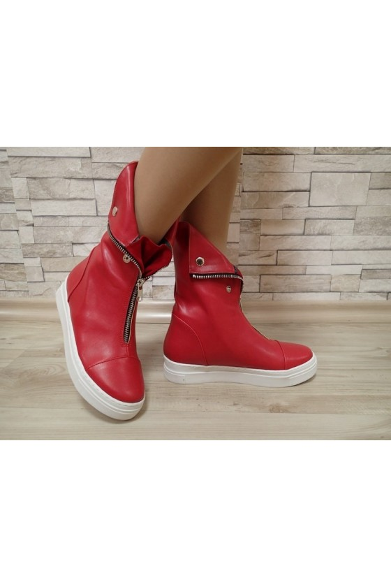 Lady boots 542 red