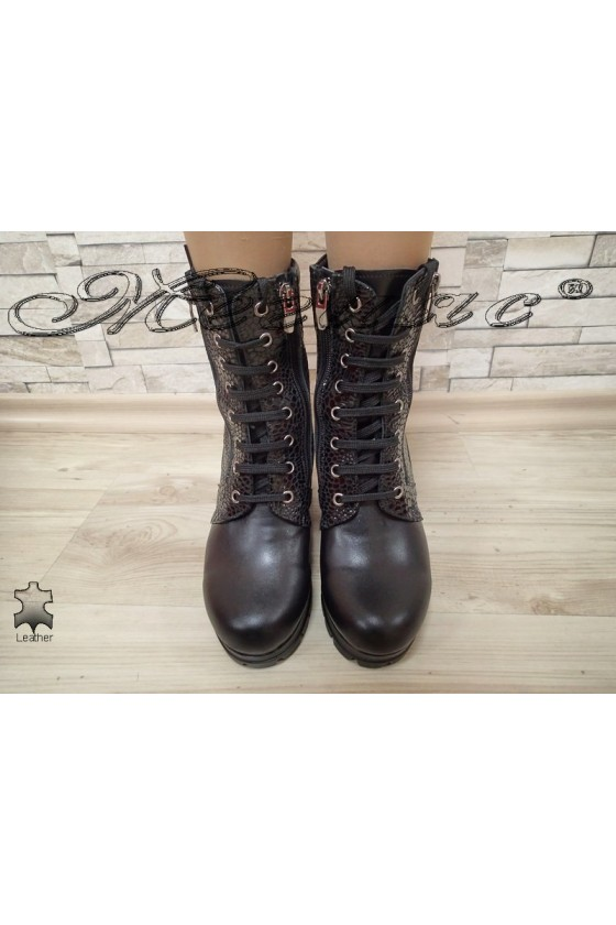 Lady boots 1515 black  leather